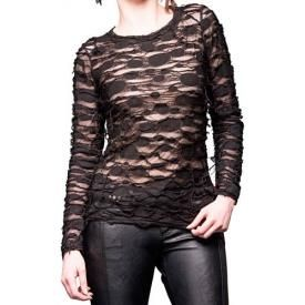 Tee Shirt Manches Longues Femme QUEEN OF DARKNESS - See Through