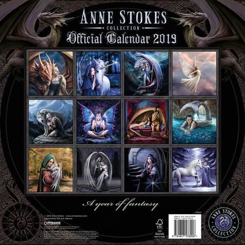 Skyrim Calendrier.Calendrier 2019 Anne Stokes Lady And Dragon Rock A Gogo