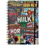 Cahier A5 MARVEL COMICS - Retro