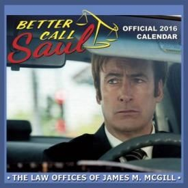Calendrier 2016 BETTER CALL SAUL - Official Calendar