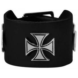 Bracelet CUIR - Croix de Malte