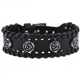 Bracelet CUIR - Roses
