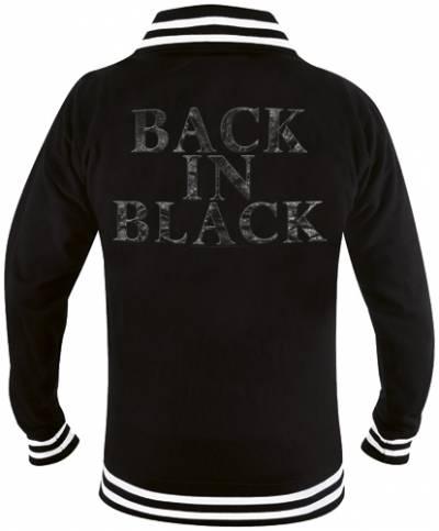 veste mec ac dc back in black vestes blousons rock. Black Bedroom Furniture Sets. Home Design Ideas