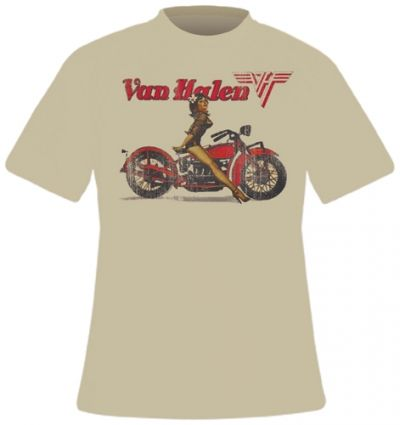 Image de T-Shirt Mec VAN HALEN - Biker Pin Up
