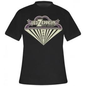 T-Shirt Mec LED ZEPPELIN - Rock N Roll Cloud