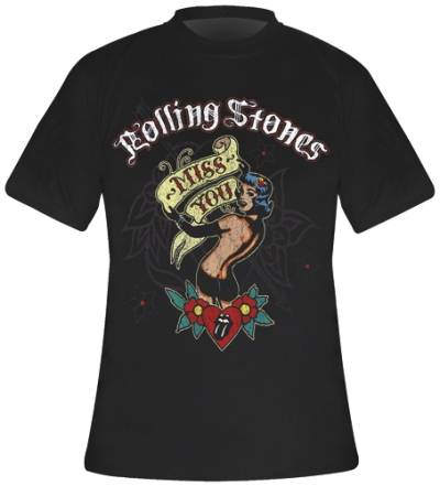t shirt homme rolling stones miss you rock a gogo. Black Bedroom Furniture Sets. Home Design Ideas