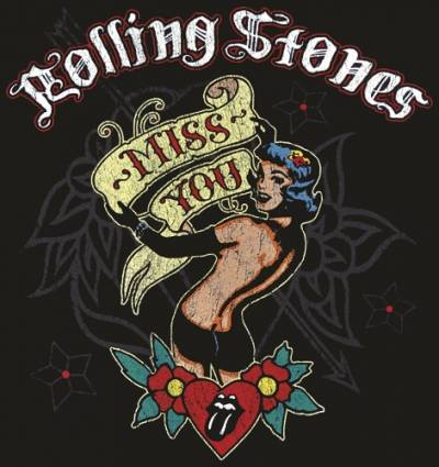 t shirt mec rolling stones miss you t shirts rock a gogo. Black Bedroom Furniture Sets. Home Design Ideas