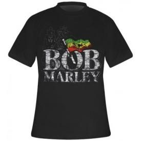 T-Shirt Mec BOB MARLEY - Distressed Logo