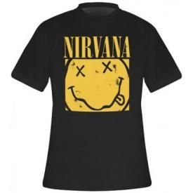 T-Shirt Mec NIRVANA - Box Smiley
