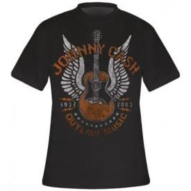 T-Shirt Mec JOHNNY CASH - Outlaw