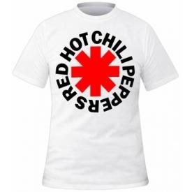 T-Shirt Mec RED HOT CHILI PEPPERS - White Asterisk Logo