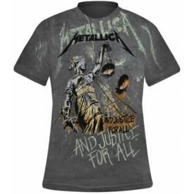 T-Shirt Mec All Over METALLICA - Justice For All