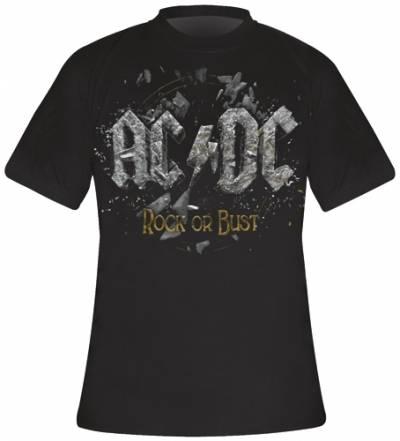 t shirt mec ac dc rock or bust cover t shirts rock a. Black Bedroom Furniture Sets. Home Design Ideas