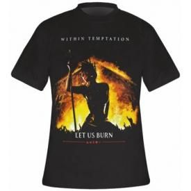 T-Shirt Mec WITHIN TEMPTATION - Let Us Burn