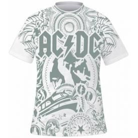 T-Shirt Mec All Over AC/DC - Black Ice