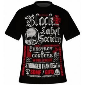 T-Shirt Mec BLACK LABEL SOCIETY - Destroy & Conquer