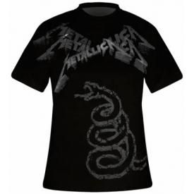 T-Shirt Mec All Over METALLICA - Black Album Faded