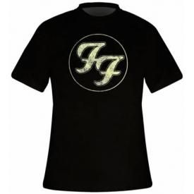 T-Shirt Mec FOO FIGHTERS - Logo In Circle Vintage