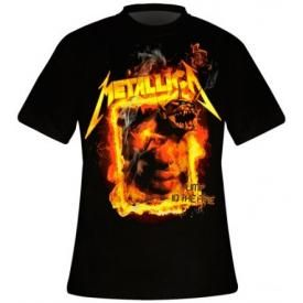T-Shirt Mec METALLICA - Jump In The Fire