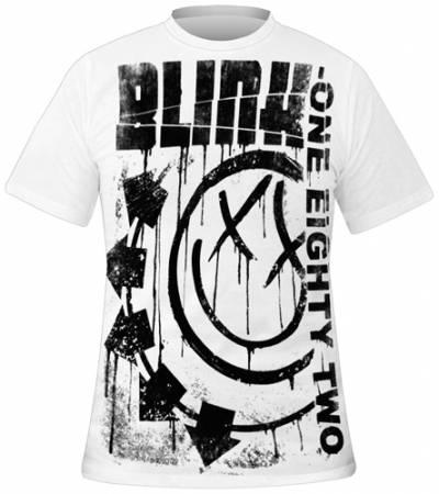 t shirt mec blink 182 spelled out t shirts rock a gogo. Black Bedroom Furniture Sets. Home Design Ideas