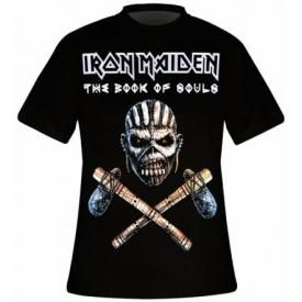 T-Shirt Mec IRON MAIDEN - Axe Coulour Book Of Souls