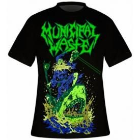 T-Shirt Mec MUNICIPAL WASTE - Zombie Shark