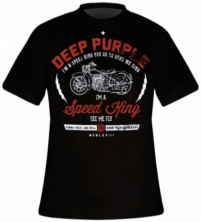 t shirt mec deep purple speed king t shirts rock a gogo. Black Bedroom Furniture Sets. Home Design Ideas