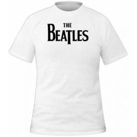 T-Shirt Mec THE BEATLES - Logo Drop T White