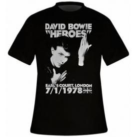 T-Shirt Mec DAVID BOWIE - Heroes Earls Court 78