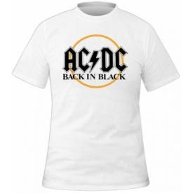 T-Shirt Mec AC/DC - White Back In Black
