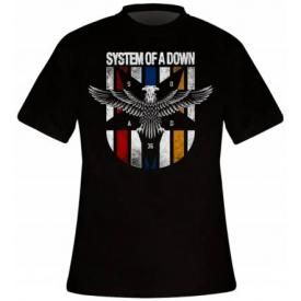 T-Shirt Mec SYSTEM OF A DOWN - Eagle Colours