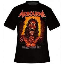T-Shirt Mec AIRBOURNE - Breakin' Outta Hell Skeleton