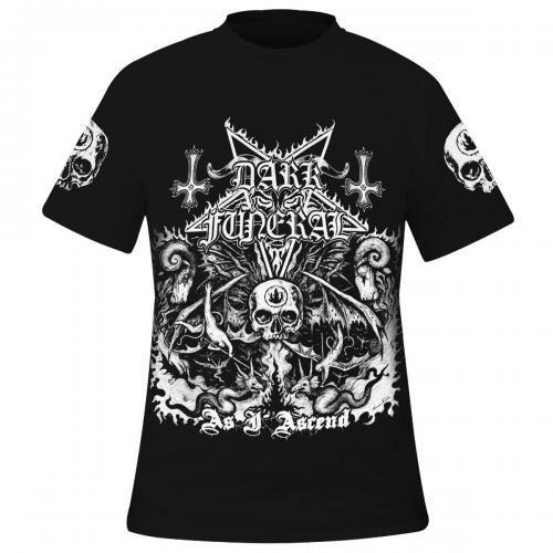 Gothique t-shirt Femmes Aile Croix Blanc rock metal tatouage Black