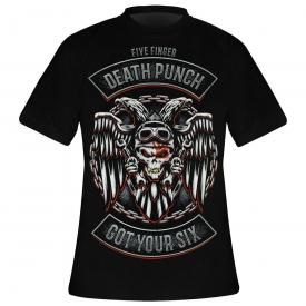 T-Shirt Homme FIVE FINGER DEATH PUNCH - Badge