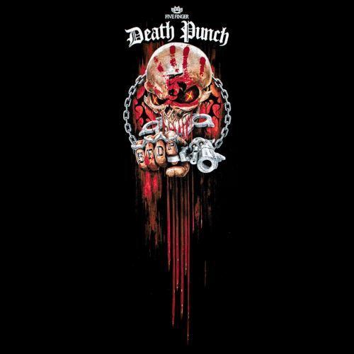 Five Finger Death Punch Shirt Spiral Assassin Homme Noir
