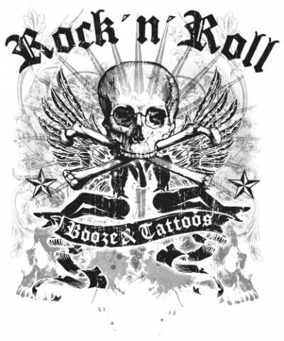 Shirt mec tattoo wear booze amp tattoo t shirts rock a gogo