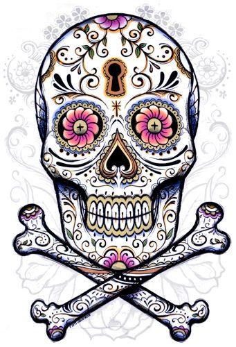 t shirt mec tattoo wear floral skull t shirts rock a gogo. Black Bedroom Furniture Sets. Home Design Ideas