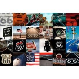 Poster ROUTE 66 - Photo Mosaic