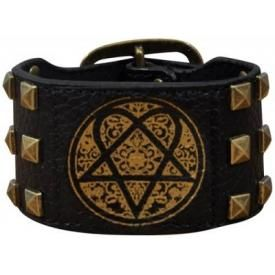 Bracelet Cuir HIM - Bronze Heartagram