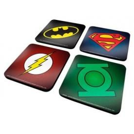 Lot de 4 Sous Bocks DC COMICS - Heros Symbols