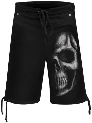 Short Coton DARK WEAR - Shadow Skull - Rock A Gogo fd21b09be11