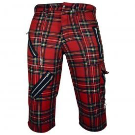 Short Mixte TIGER OF LONDON - 3/4 Red Tartan