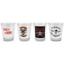 Set de 4 Verres AVENGED SEVENFOLD - Shooters Hail To The King