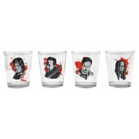 Set de 4 Verres THE WALKING DEAD - Characters