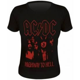 Tee Shirt Femme AC/DC - Highway To Hell Red