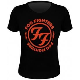 Tee Shirt Femme FOO FIGHTERS - Logo Red Circle
