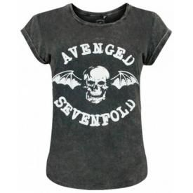Tee Shirt Femme AVENGED SEVENFOLD - Bat Acid Wash