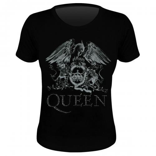 Tee Shirt Femme QUEEN - Silver Crest - Rock A Gogo 49b4914a752