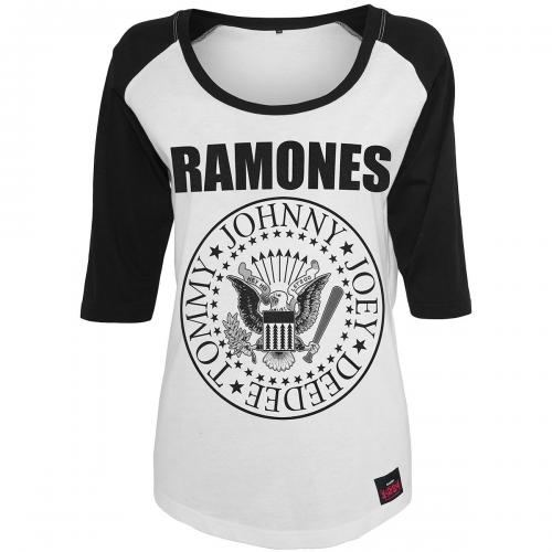A Gogo RAMONES THE Manches Rock Raglan Femme 34 Tee Shirt Seal Ha1zqHv