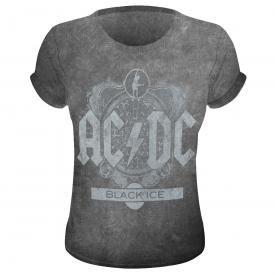 cf37ec4043a93 Tee Shirt Femme AC DC - Black Ice Burnout
